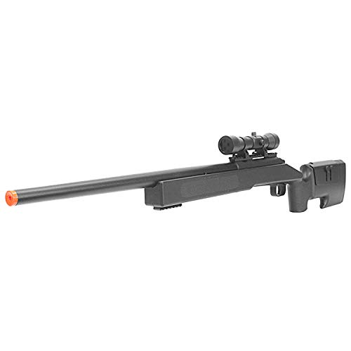 BBTac Airsoft Sniper Rifle M62 - Bolt Action Powerful Spring Airsoft Gun, Extreme Powerful FPS with .20g 6mm BBS
