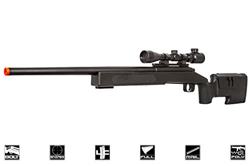 ASG McMillian Sportline M40A3 Bolt Action Spring Sniper Airsoft Rifle (Black)