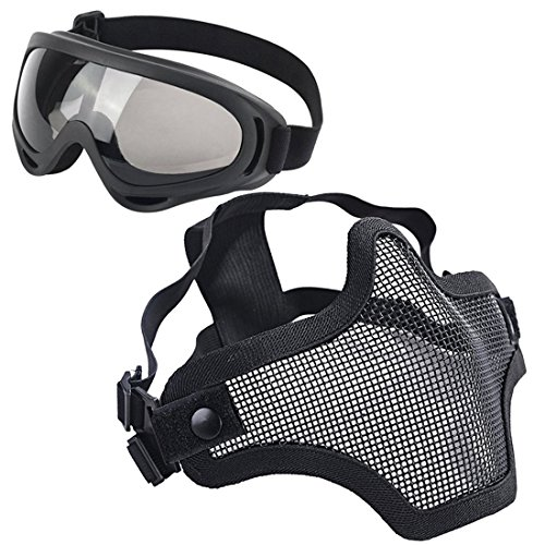 LAOSGE Airsoft Mask with Goggles