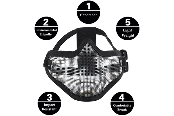 LAOSGE Airsoft Mask Half Face Set with Goggles Review