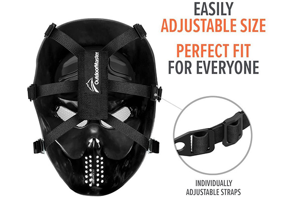 OutdoorMaster Full Face Airsoft Mask Features