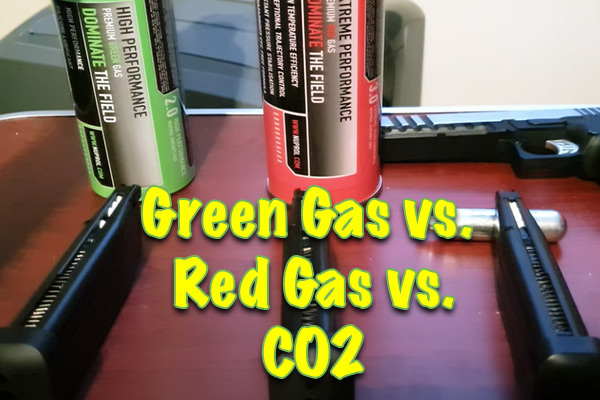 What Is The Difference Between Red Gas, Green Gas, And CO2 for Airsoft Guns? Which Should You Use When?