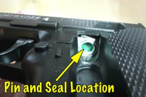co2 leak location on airsoft pistol
