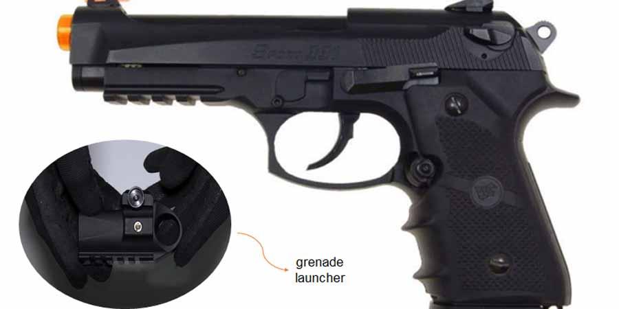 500 FPS WG Airsoft Metal M9 Beretta Blowback Gas Gun Pistol