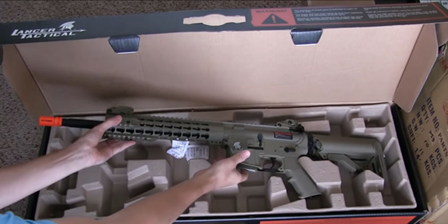 Lancer Tactical Full Metal Gear with 10 keymod Rail Interface System